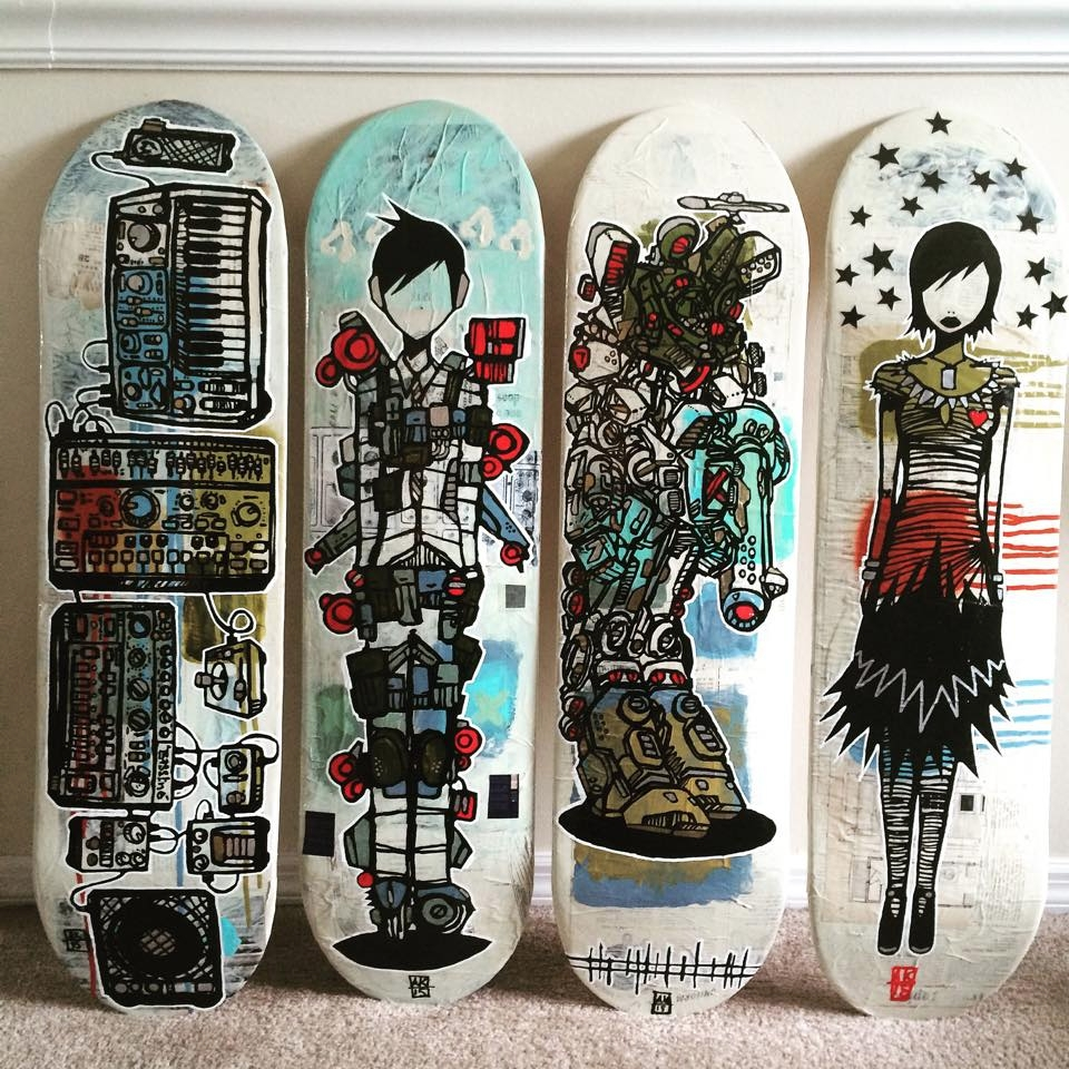 skateboard art lowbrow synthesi - aaronkraten | ello