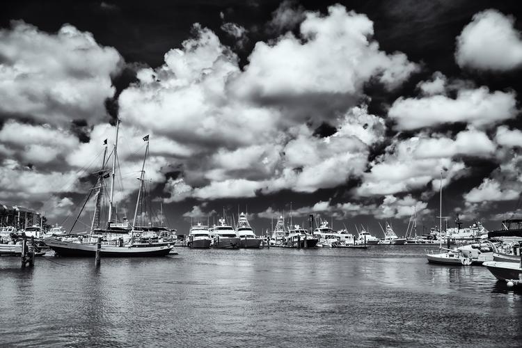 Harbor Clouds Boats docked harb - mattgharvey | ello