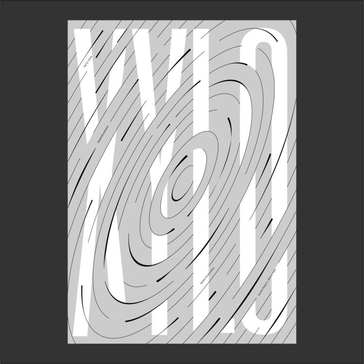 poster work. design print graph - rrrrr | ello