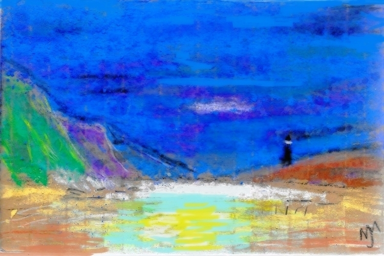 "Lighthouse Cove, Pastel , 6.78"" - clan_morrison_art 