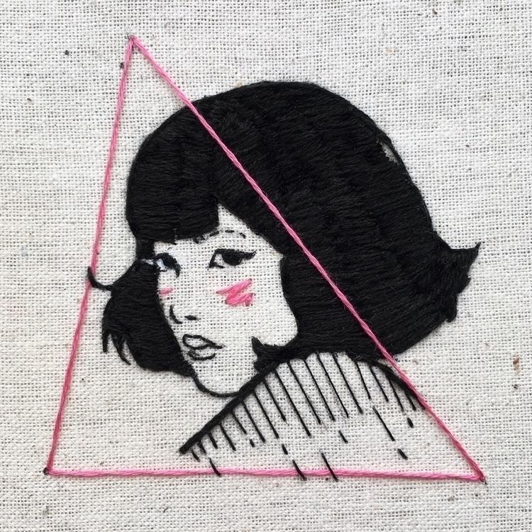 embroidery! bit 80s vibe 💋 - tsofiah | ello