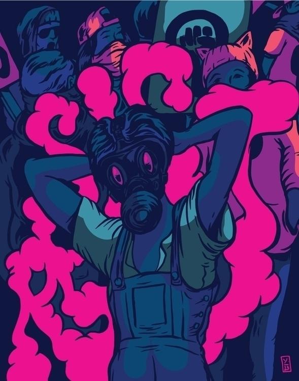 Assemble, Resists illustration - thomcat23 | ello