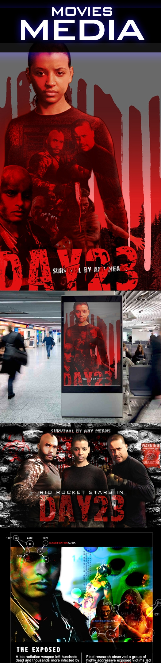 Movie Poster design film Day 23 - riorocket | ello