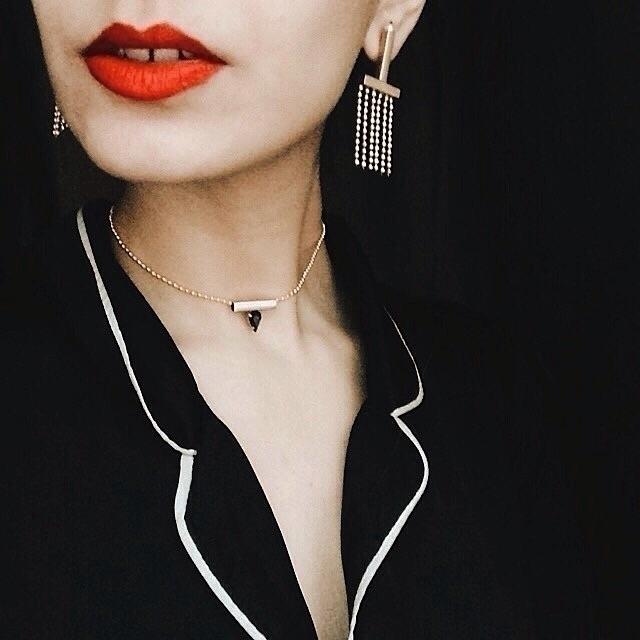Red mood designer fashion jewel - monad_design | ello