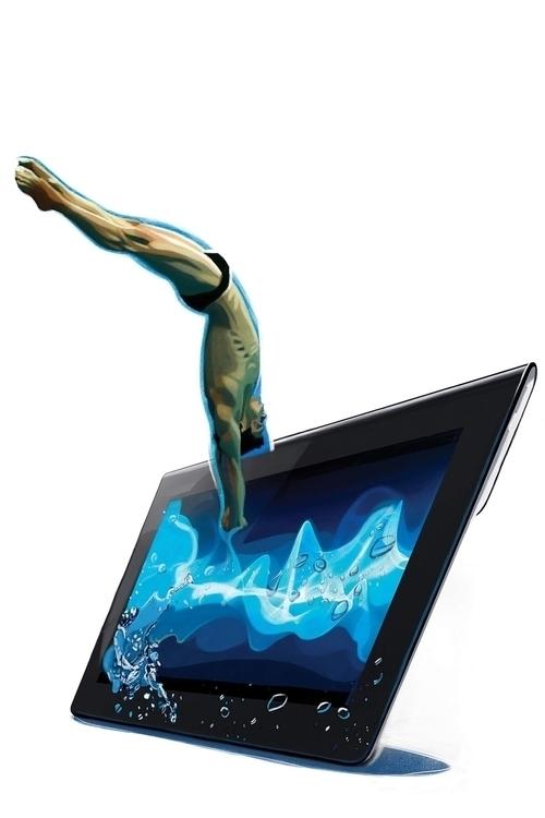Digital diver, illustration Lib - canuivan   ello