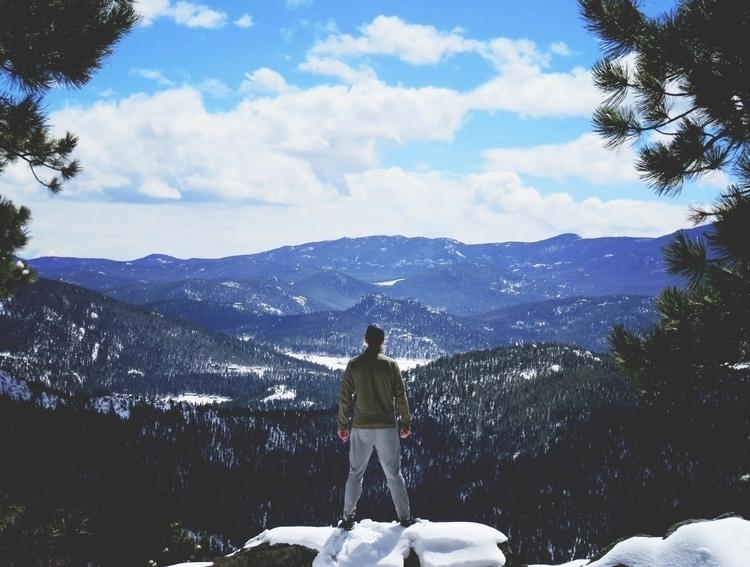 Bergen Peak Trail evergreen col - snowblinded303 | ello