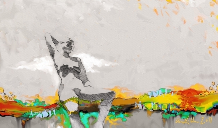 Cloud, Mixing life drawing Abst - lobber66 | ello