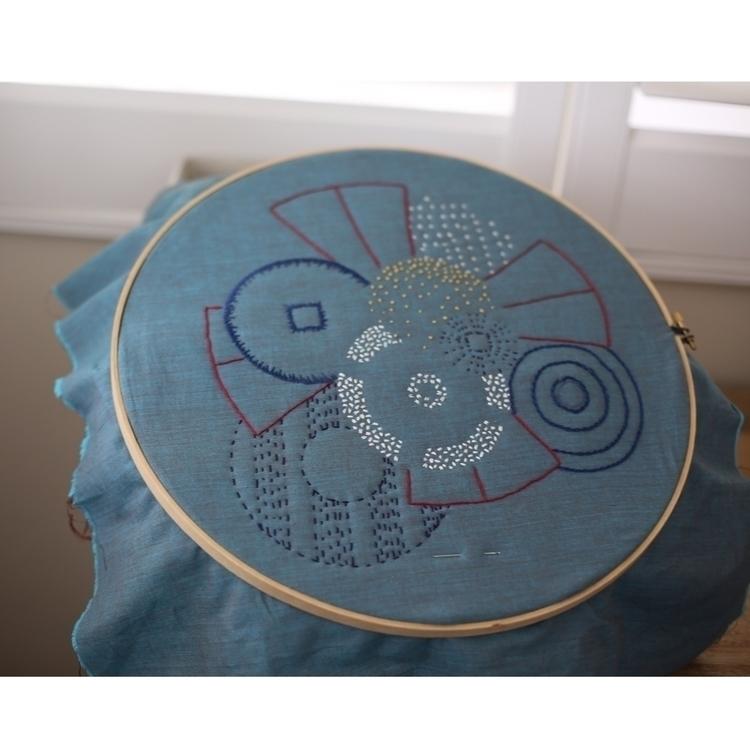 Ad hoc embroidery Circles theme - entropyalwayswins | ello