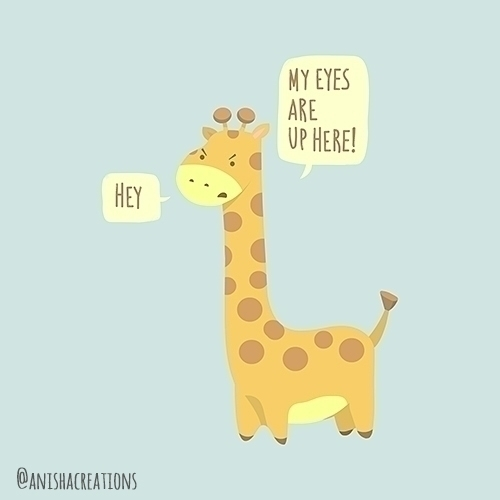 Giraffe Problems illustration c - anishacreations | ello