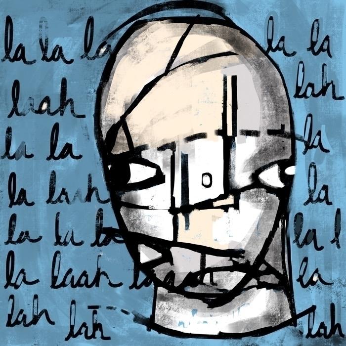 la lah laah head song abstract  - catswilleatyou   ello