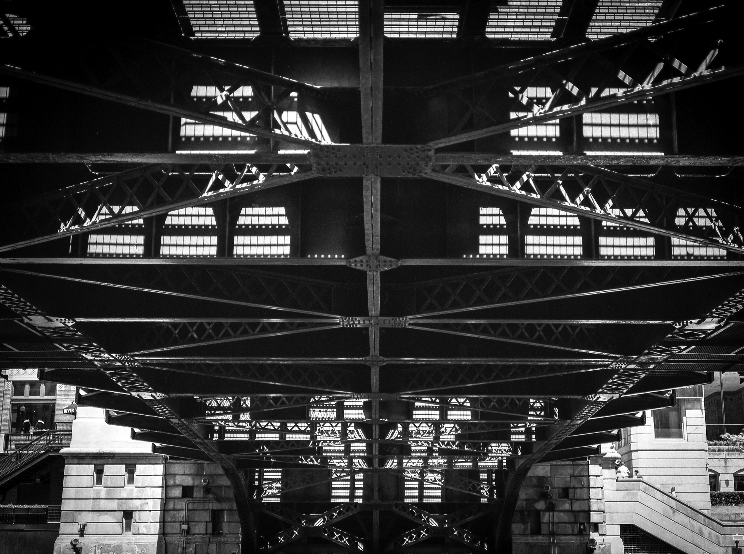 Chicago river bridge underside  - junwin | ello