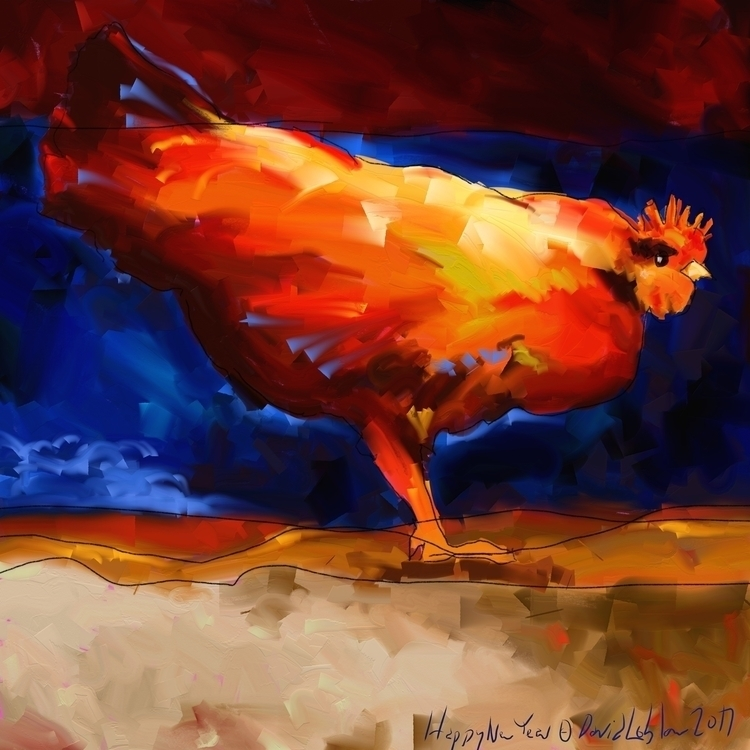 Red Rooster created artrage art - lobber66 | ello