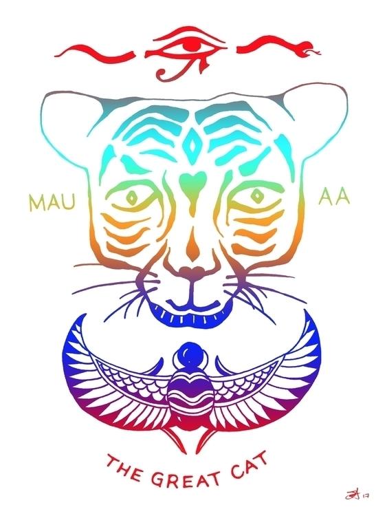 Mau 🙏🏼🐯 drawing illustration st - jeffwalters | ello