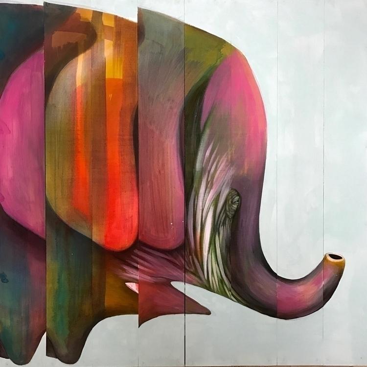 wip night. painted elephants, s - joshuacharleshart   ello
