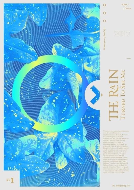Rain poster book cover design e - torresmilka2004 | ello