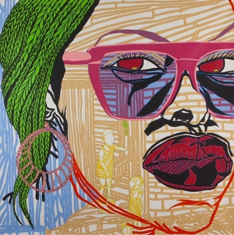 Boris Nzebo love, 2014 Acrylic  - blackartmatters | ello