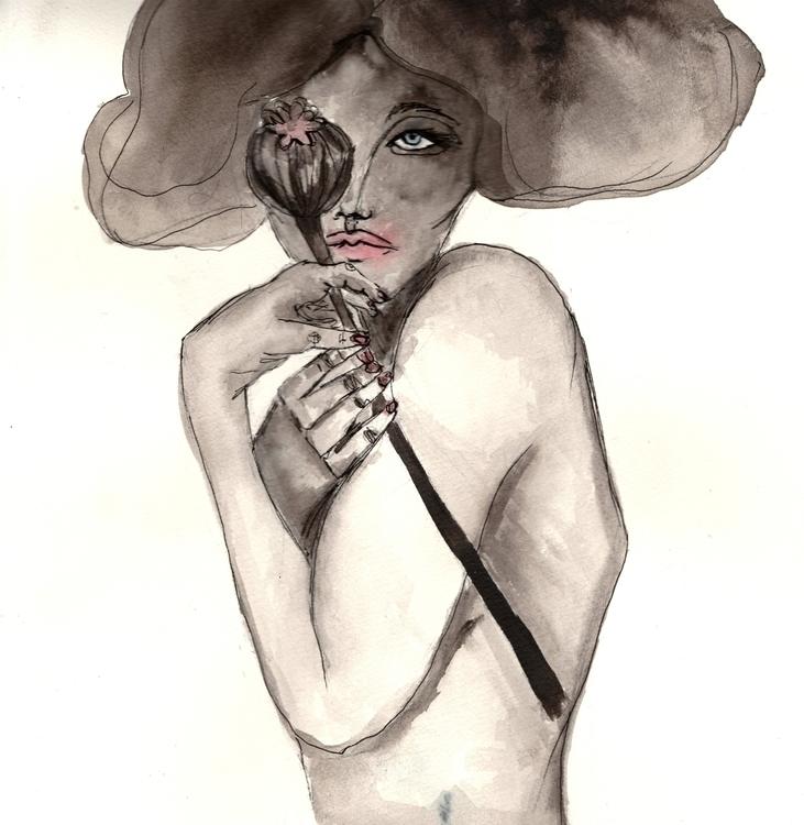 Opium illustration drawing ink  - valentinatassalini | ello