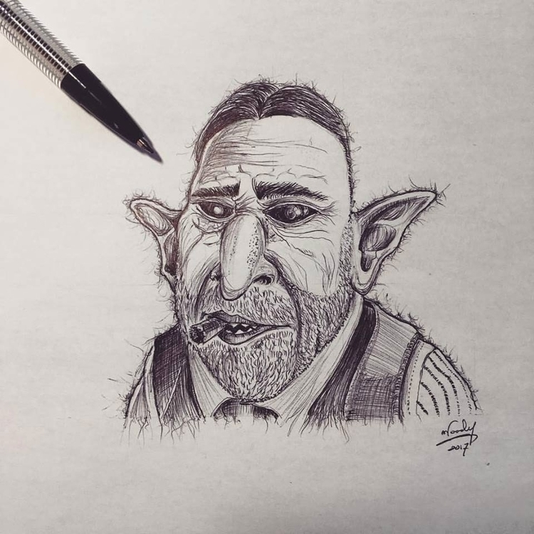 Random lines Gnarlak, Goblin Ga - nephellim | ello
