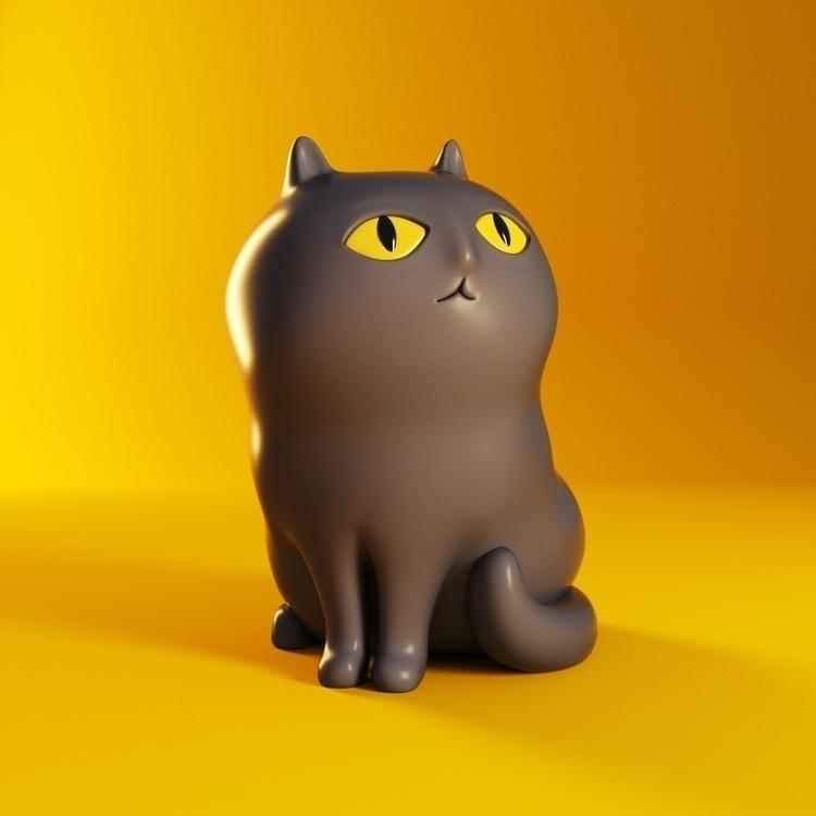 meow illustration cgi cat chara - yippiehey | ello