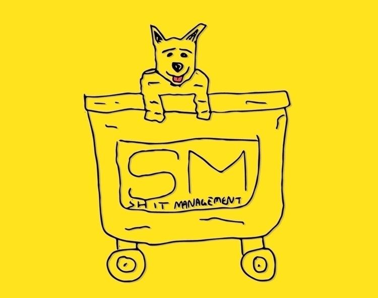 Dumpster dog doodle illustratio - dsmoore   ello