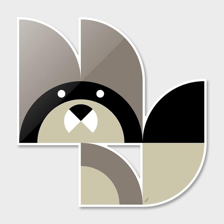 Quadrant Raccoon Animals Series - carterson | ello