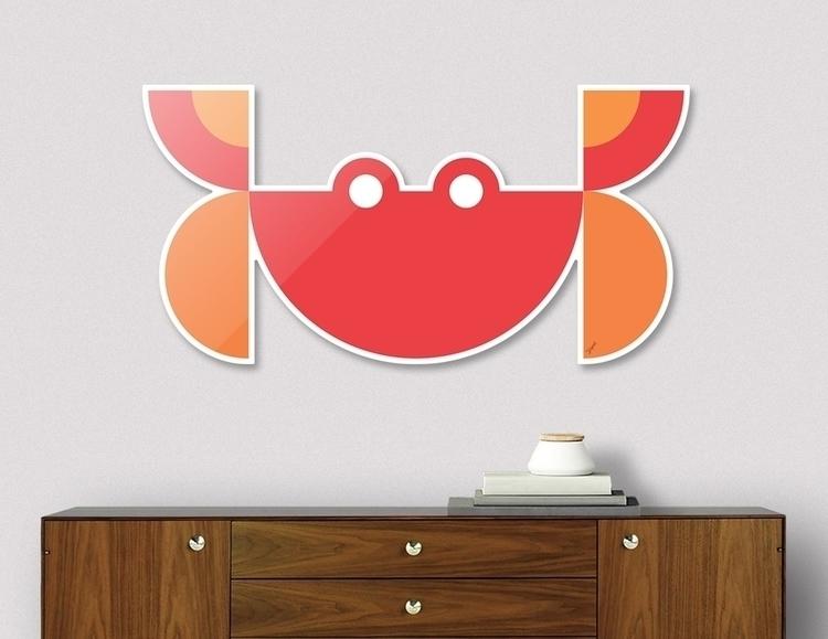 Quadrant Red Crab Animals Serie - carterson | ello
