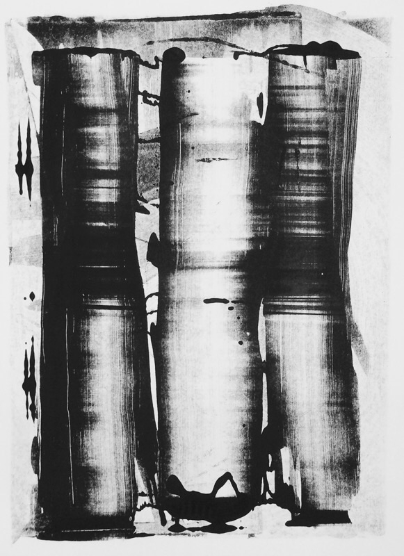 art print monotype blackandwhit - mlui | ello