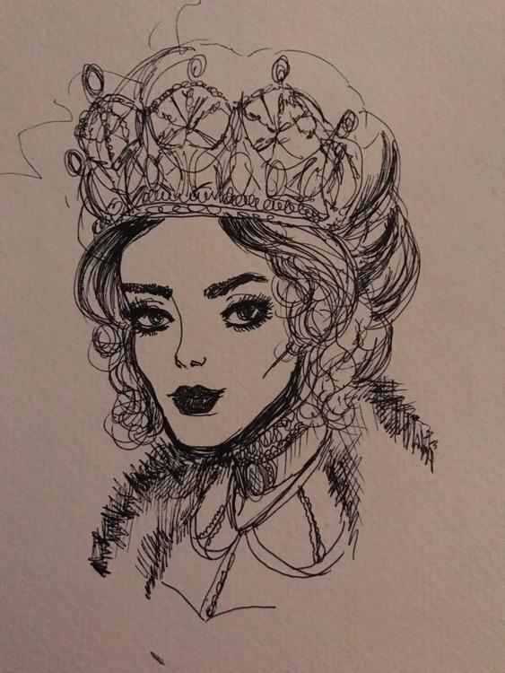 queen showed hand. crown. elloa - amberosered | ello