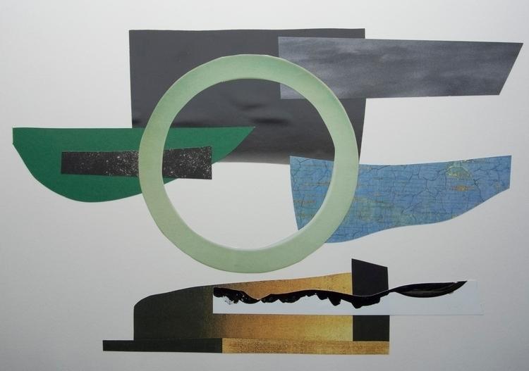 Jade sky, Collage art abstract  - wrjenkinson | ello