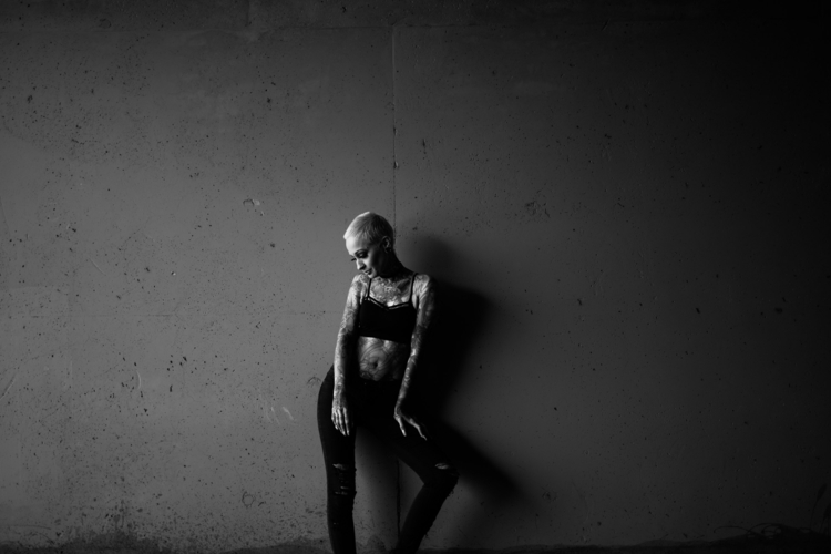 Dana studio portrait blackandwh - ben-staley   ello