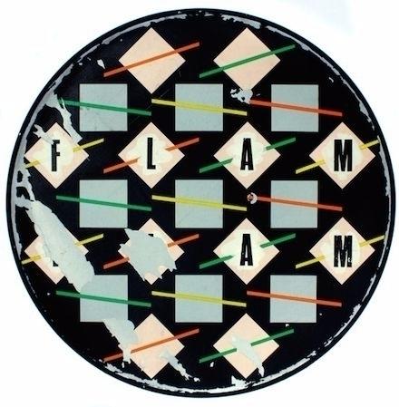 Barney Bubbles drumhead Glen Co - p-e-a-c | ello
