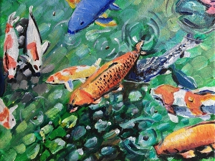 Feeding Fishies 8x10 $50 - tinkers2 | ello