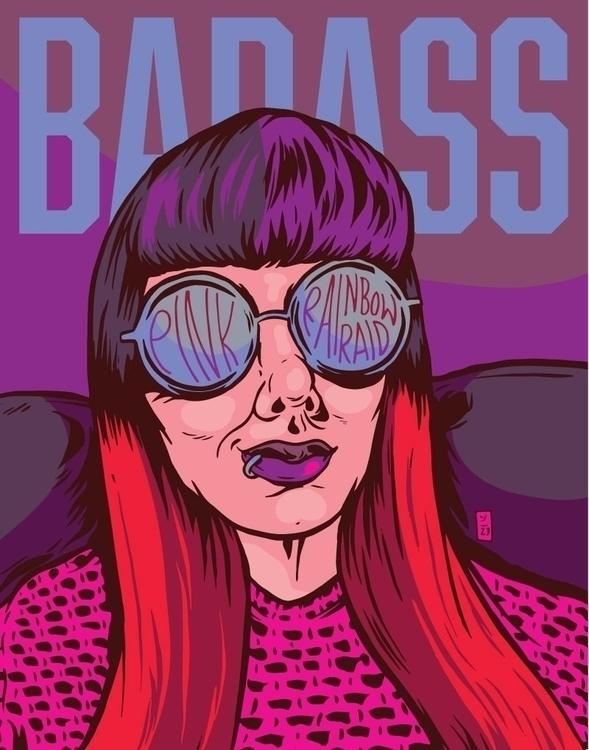 Badass - illustration - thomcat23 | ello