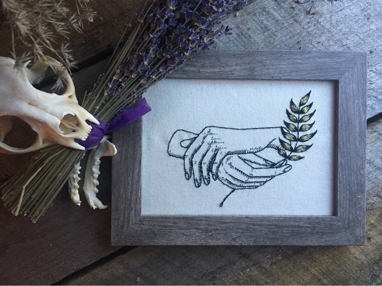 attempt framing embroideries - handmade - spookyghoul | ello