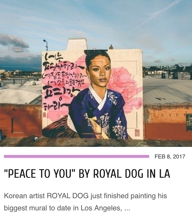 Korean artist Graffiti Royal Do - streetartunitedstates | ello
