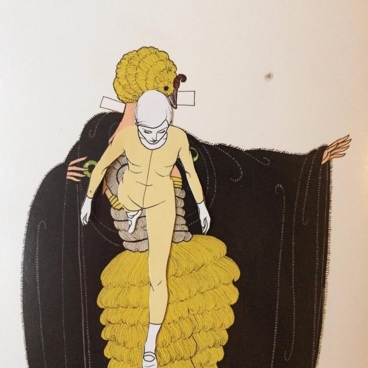 Unglues series. Paper doll 03 - fashion - danielletcole | ello