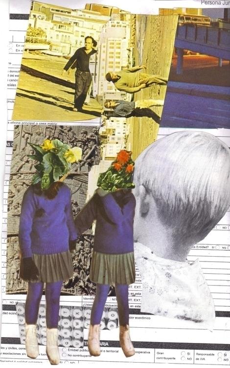 Teorema de las dos flores - collage - lacaradenadie | ello