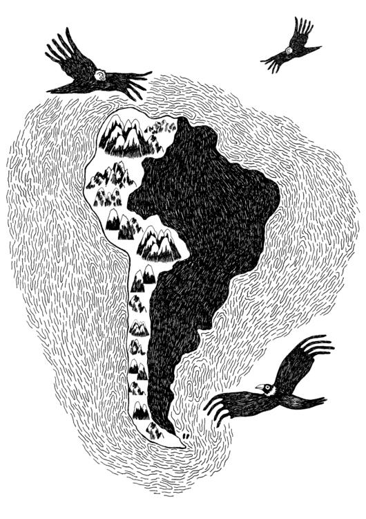 América Andina - ink - mvictoriarodriguez | ello