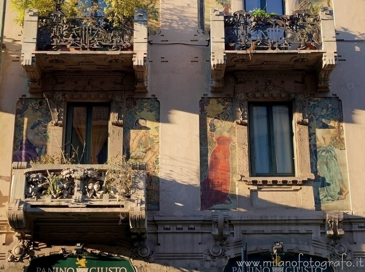 (#Italy): Art Noveau decoration - milanofotografo | ello