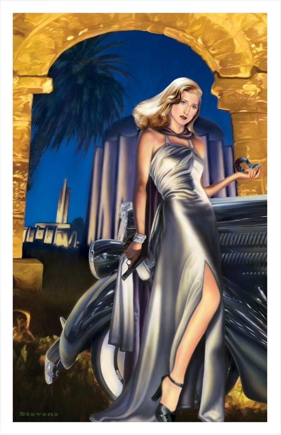 Domino Lady: digital painting h - tym_stevens | ello