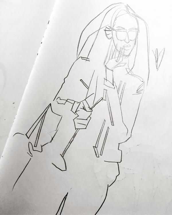 find confident line - fashion, sketchbook - evandileo | ello