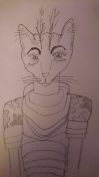 cat person Ufulah-nyah-ha - jio_and_her_rags | ello