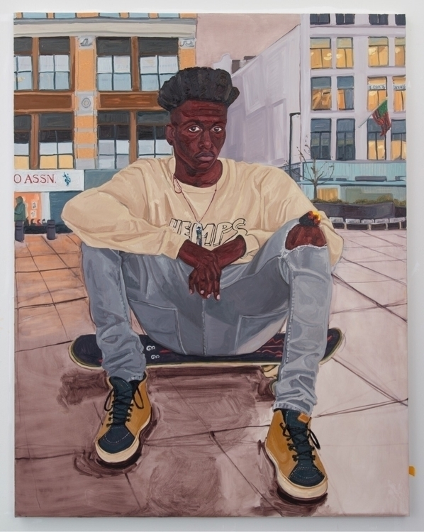 Jordan Casteel Jared, 2016 Oil  - blackartmatters | ello