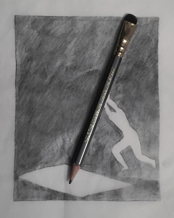Hold pencil, tired - illustration - graphicdesign   ello