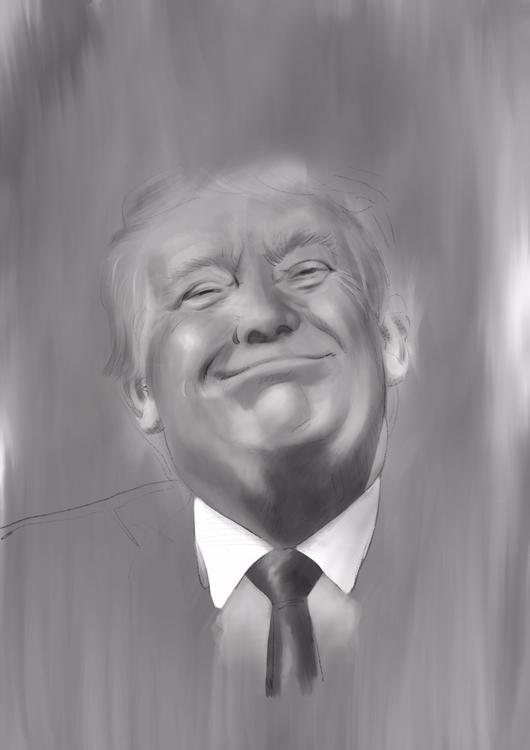 contempt Trump idea felt paint - crapatquake | ello