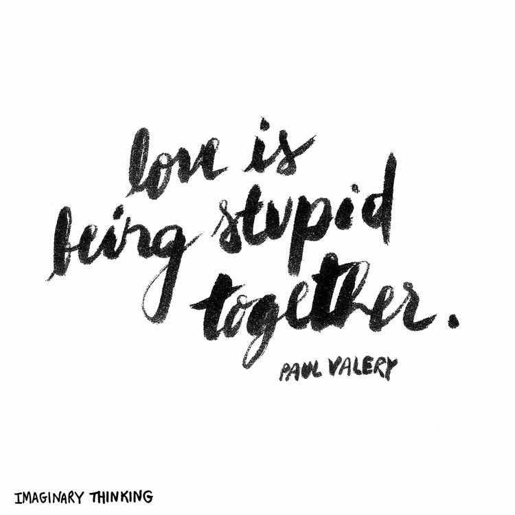 Morning doodle Love stupid – Pa - imaginarythinking | ello