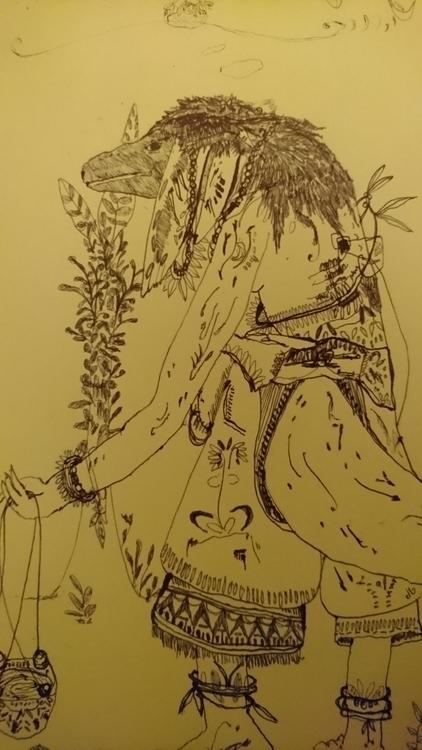 wuma gallery - art, umba - jio_and_her_rags | ello