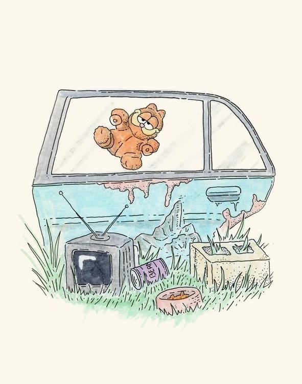 Hang baby - illustration, doodleday - mlodik   ello