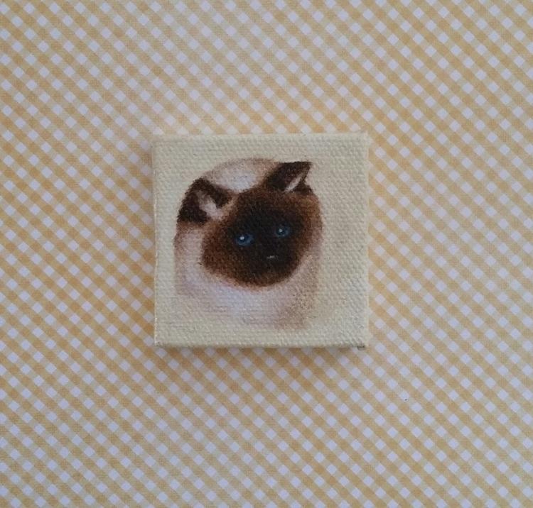 Miniature Portrait 2x2 oil canv - nora_ | ello
