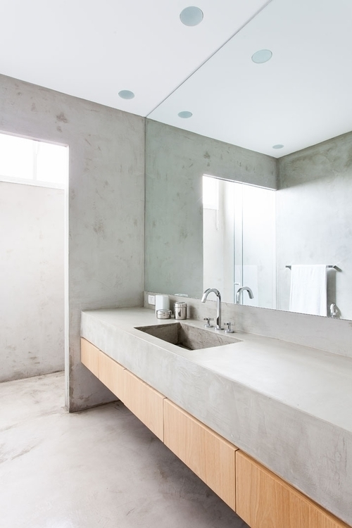 Concrete bathroom. Apartamento  - upinteriors   ello